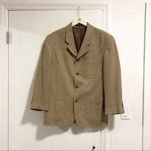 Other - Vintage tan wool oversized men's blazer